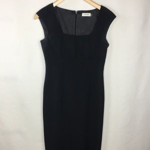 Calvin Klein Square Neck Little  Black Dress